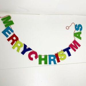 Other - Merry Christmas Banner Felt String Loop Hooks